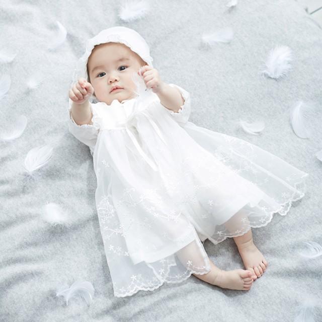 【ベビー】【日本製】新生児サマーセレモニードレ...