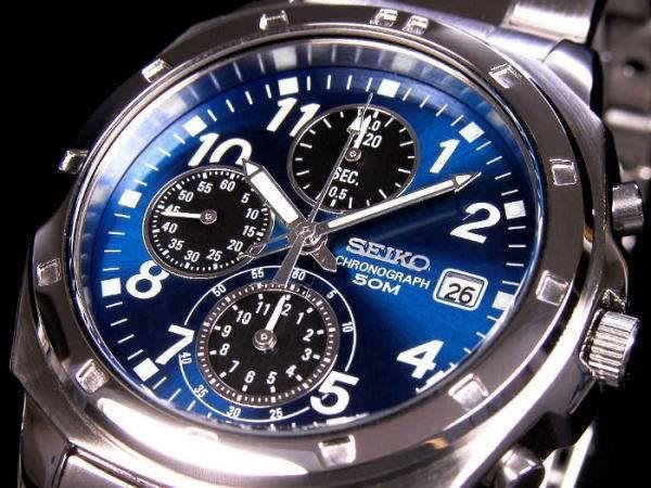 セイコー SEIKO クロノグラフ 腕時計 SND193腕時...
