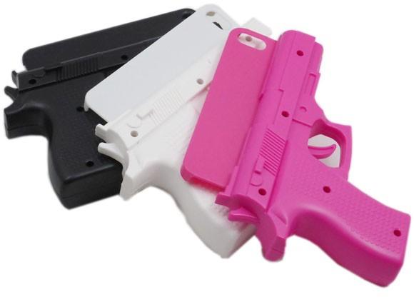 iPhone XS X 10 8 7 6S ケース 拳銃型 ピストル型...