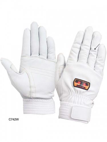 トンボレスキュー手袋 C742W/C742BK (牛革)