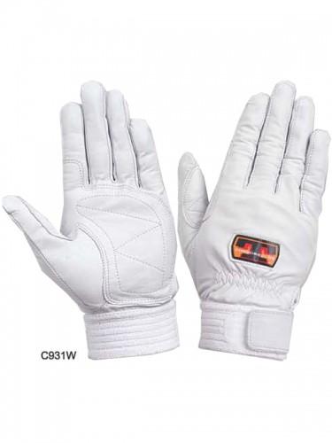 トンボレスキュー手袋 C931W/C931BK (牛革)