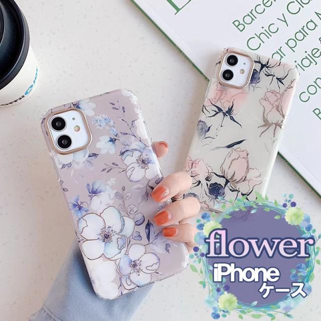 花×大理石 iPhone13 ケース iphone12 ケース iph...
