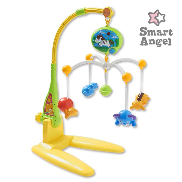 SmartAngel)スマイルメリー[おもちゃ メリー ベビーメリー ベビー玩具 赤ちゃん ベビー 0歳 ベビーベッド 玩具 オモチャ 子供 キッズ オ