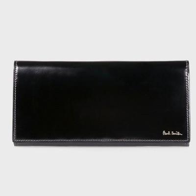ポールスミス 財布 長財布 コードバン ブラック P...