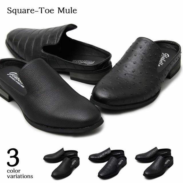 【glabella】Square-Toe Mule  3color /沖縄・離...