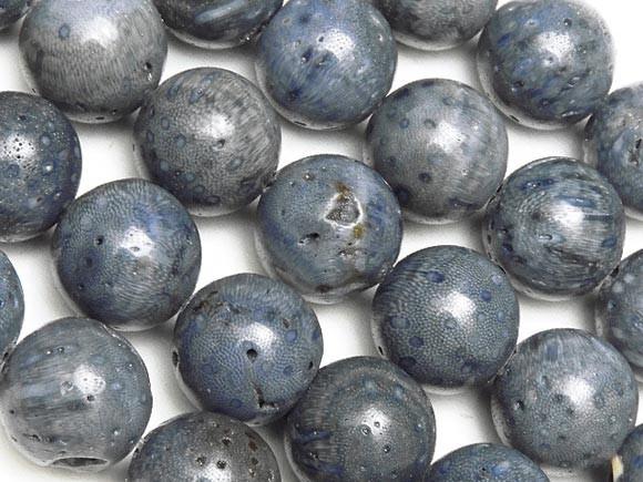 ブルーコーラル(青珊瑚) 丸玉 10mm