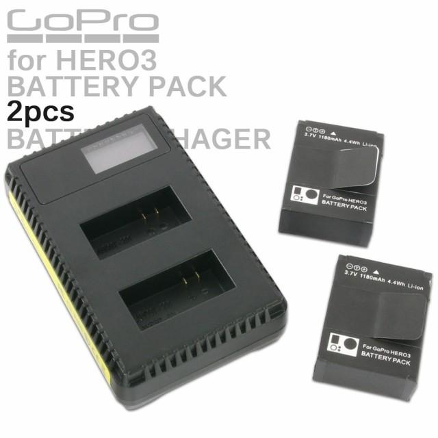 GoPro HERO3 HERO3+用 リチウムイオン バッテリー...