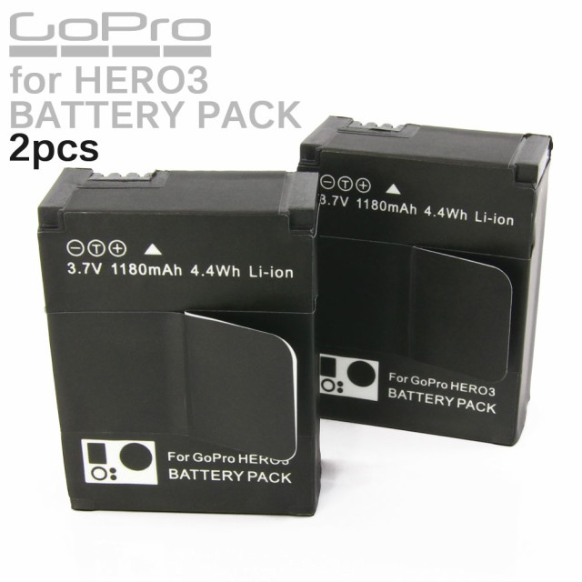 GoPro HERO3 HERO3+ カメラ用 大容量 リチウムイ...
