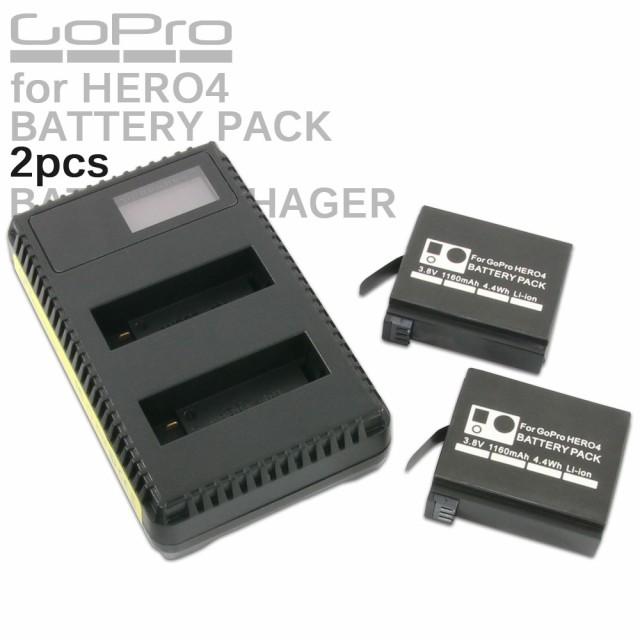 GoPro HERO4用 リチウムイオン バッテリーパック ...