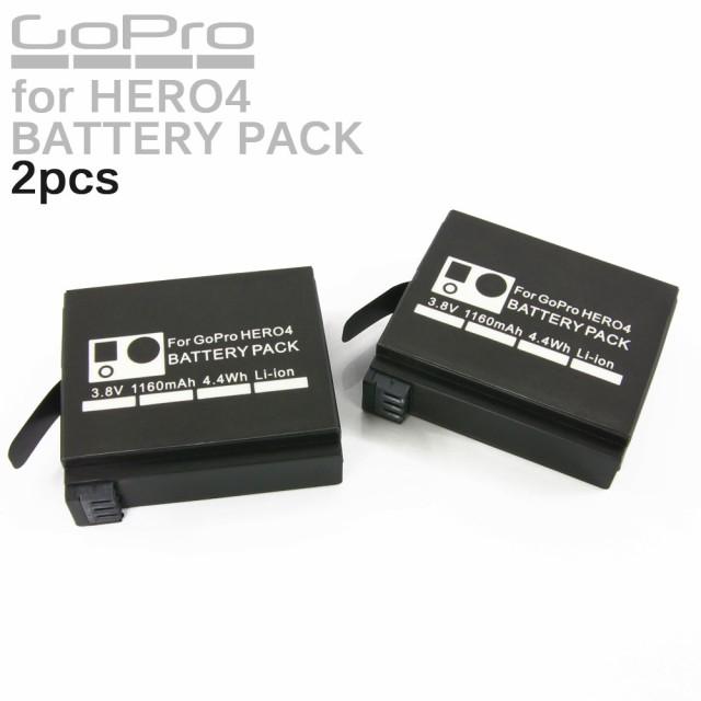 GoPro HERO4 カメラ用 大容量 リチウムイオン バ...
