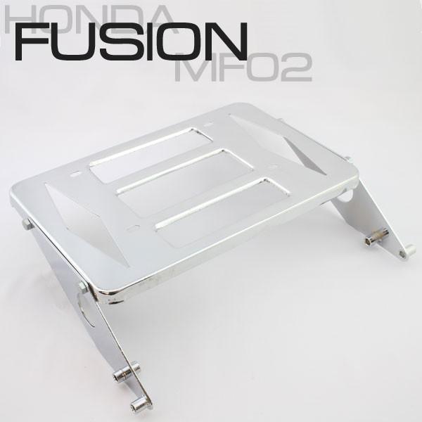 フュージョン MF02 メッキ リアキャリア 外装 カ...