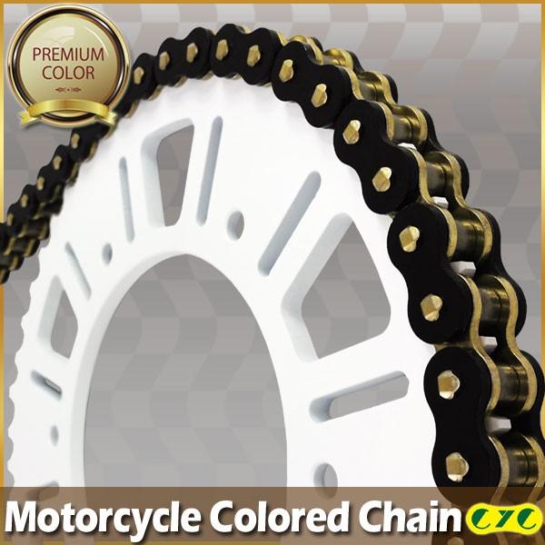 CYCバイクチェーン 530-120L ブラック&ゴールド...