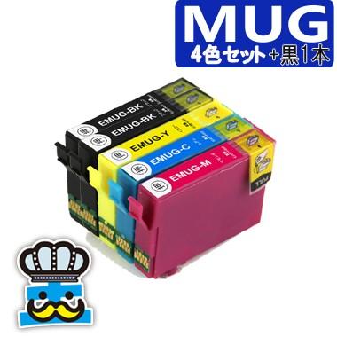 プリンターインク エプソン MUG 4色セット+黒1...
