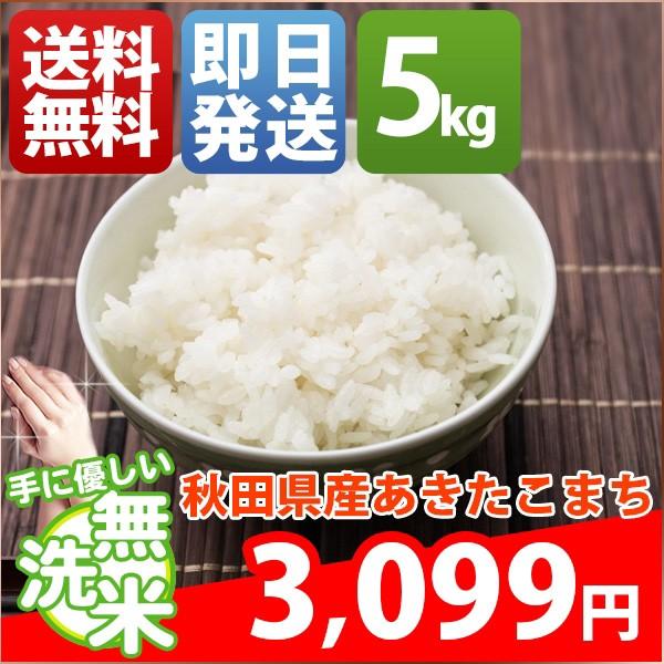 お米 5kg 安い 1等米 秋田県 無洗米 新米 あきた...
