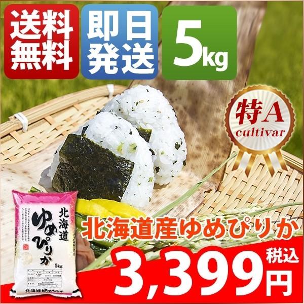お米 5kg 安い 1等米 北海道 白米か玄米 ゆめぴり...