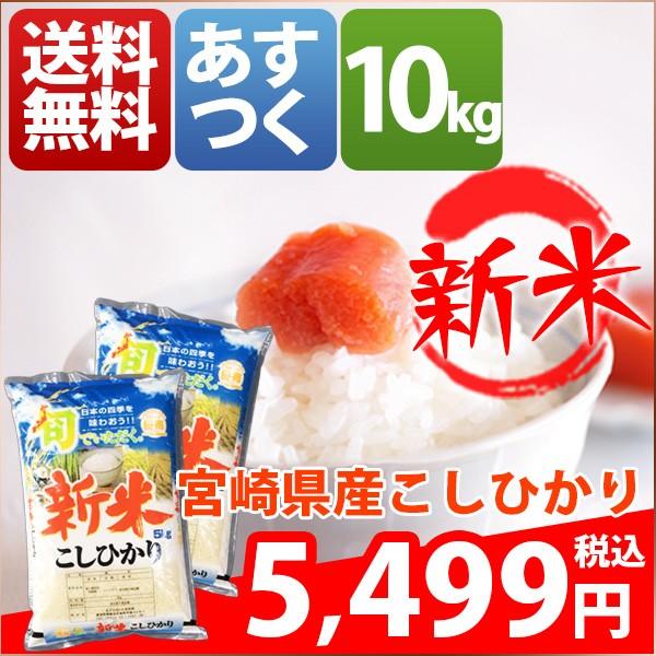 お米 10kg 安い 1等米 宮崎県 白米 新米 こしひか...