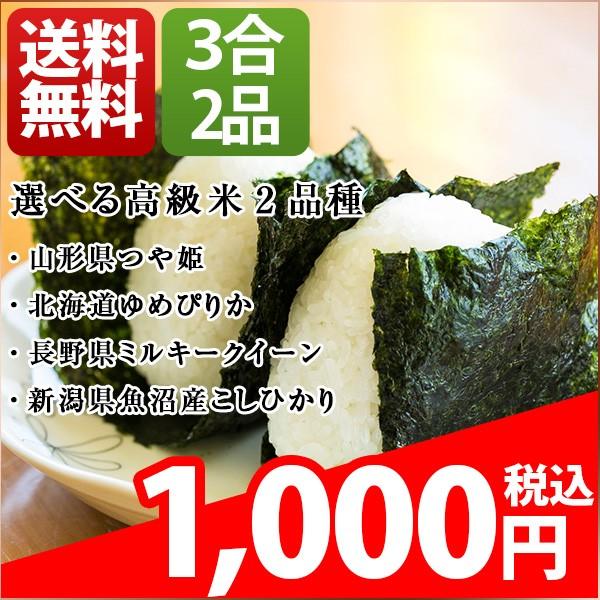 ポイント消化 送料無料 1000円 食品 お試し米 3合...