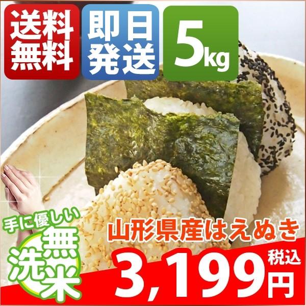 お米 5kg 安い 1等米 山形県 無洗米 はえぬき 30...