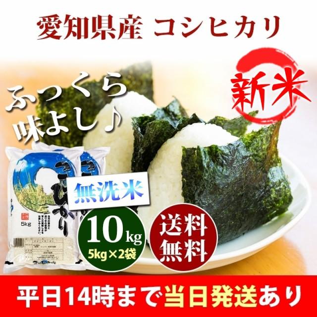 新米 米 無洗米 10kg 愛知県産 コシヒカリ 5kg×2...