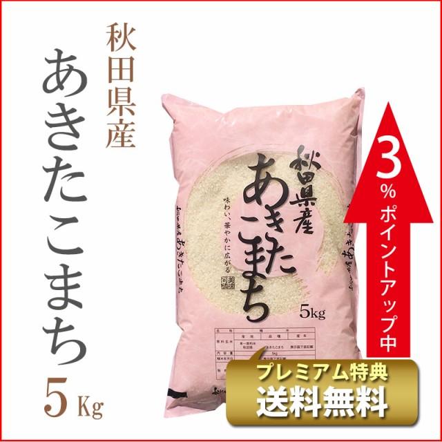 タイムセール 米 5kg 秋田県産 あきたこまち 1等...