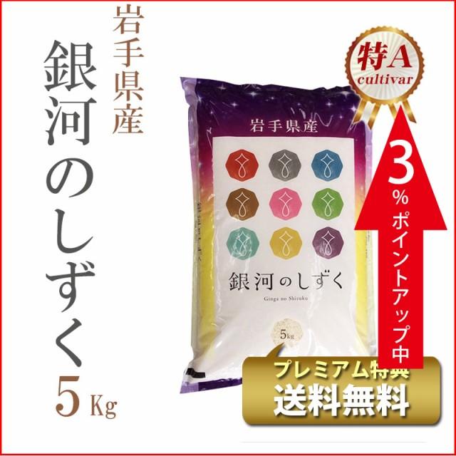 タイムセール 米 5kg 岩手県産 銀河のしずく 1等...