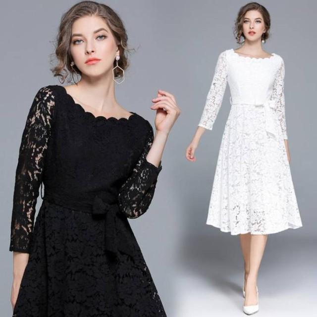 結婚式 ドレス ぽっちゃり S-3L 4色 大きいサイズ...