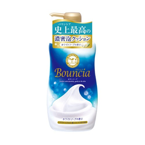 【価格据え置き】牛乳石鹸 バウンシア ボディソープ ホワイトソープの香り 500ml
