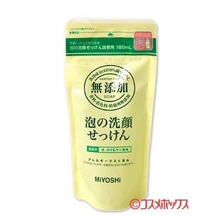 ミヨシ 無添加 泡の洗顔せっけん 詰替用 180m...