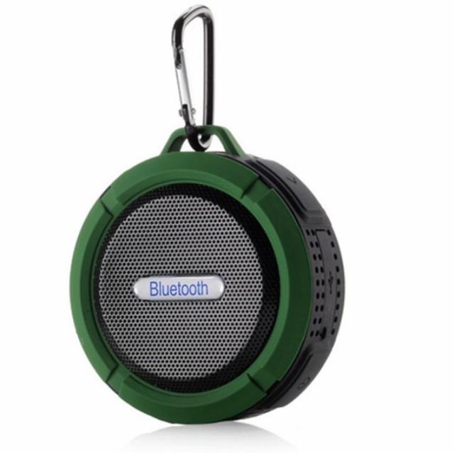 防水 高音質 ワイヤレス スピーカー 《グリーン》...