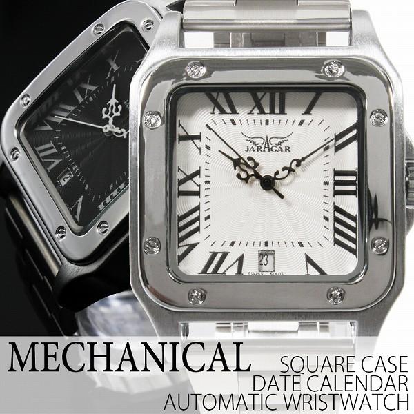 自動巻き腕時計 ATW010 スクエアケース 日付カレ...
