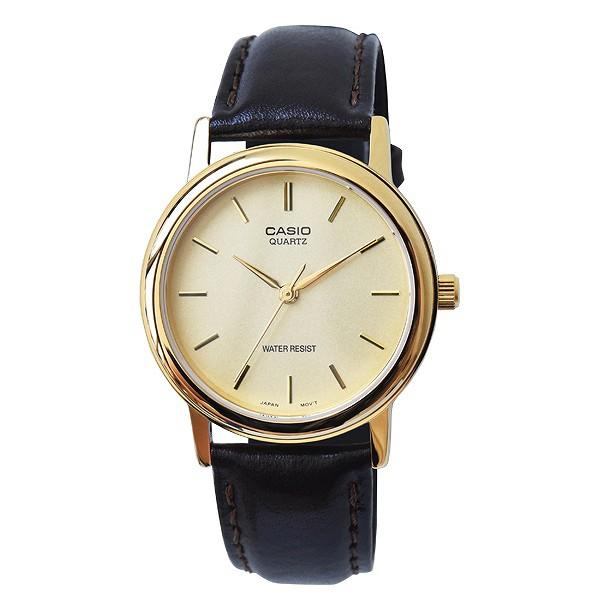 取寄品 CASIO腕時計 アナログ表示 丸形 革ベルト ...