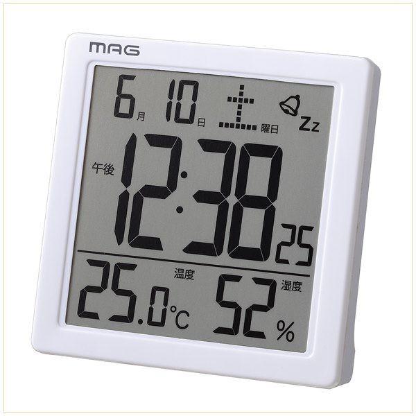 目覚まし時計 置き時計 デジタル 卓上 温度計 湿...
