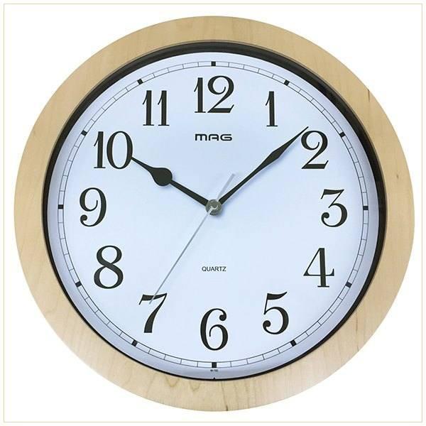 壁掛け時計 かけ時計 木目調 ウッドフレーム ウォ...