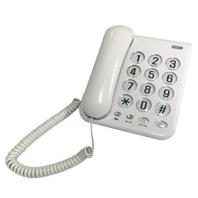 電話機 固定電話機 本体 シンプルフォン ホワイト...