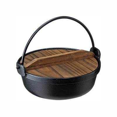 いろり鍋 囲炉裏鍋 鉄鋳物製 田舎鍋 IH対応 17cm...