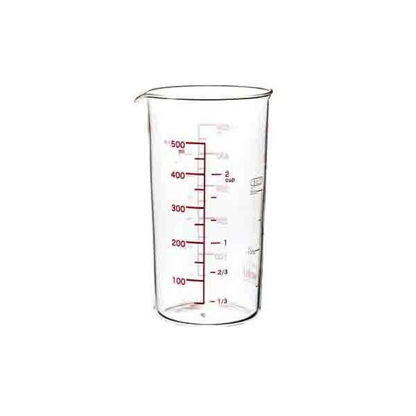 メジャーカップ 計量カップ 耐熱ガラス製 大 500m...