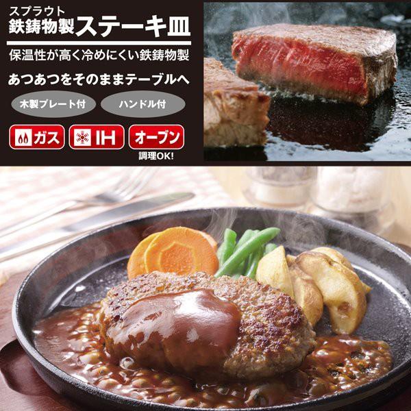 ステーキ皿 小 鉄板 プレート 2枚組セット IH対応...