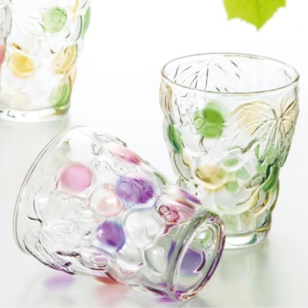 グラス コップ タンブラー ガラス アデリア 葡萄 ...