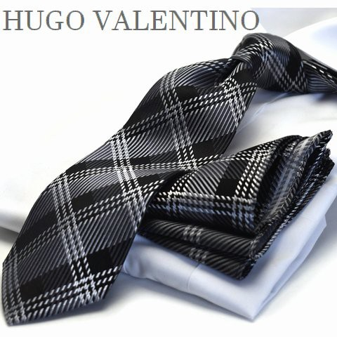 【ポケットチーフ】【HUGO VALENTINOネクタイ】(8...