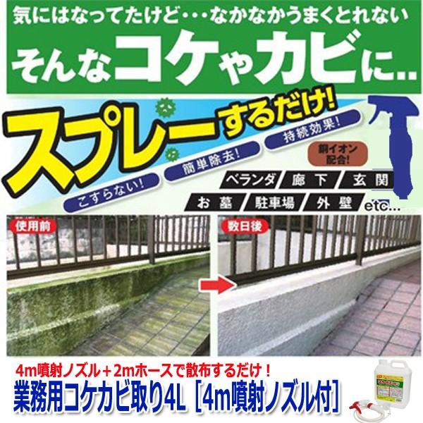 業務用コケカビ取り4L[4m噴射ノズル付](カビ掃...