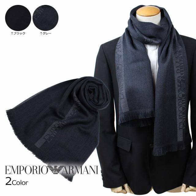エンポリオ アルマーニ EMPORIO ARMANI マフラー メンズ ウール イタリア製 ビジネス カジュアル 6250078P307