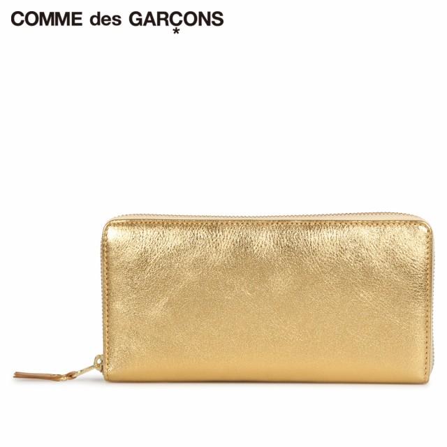 コムデギャルソン COMME des GARCONS 財布 長財布 メンズ レディース ラウンドファスナー 本革 GOLD AND SILVER WALLET ゴールド SA0110G