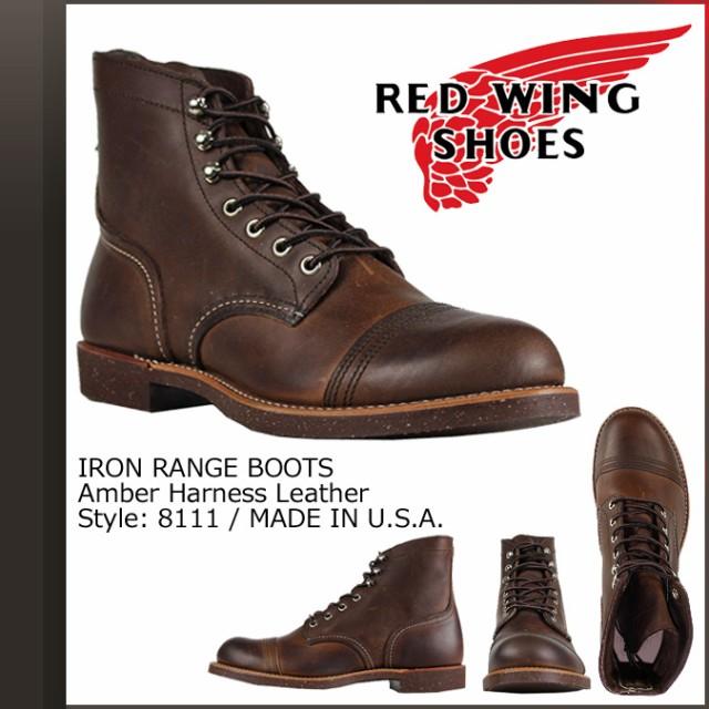 レッドウィング RED WING ブーツ アイアン レンジ 6インチ メンズ アイアンレンジャー 6INCH IRON RANGER Dワイズ ブラウン 8111