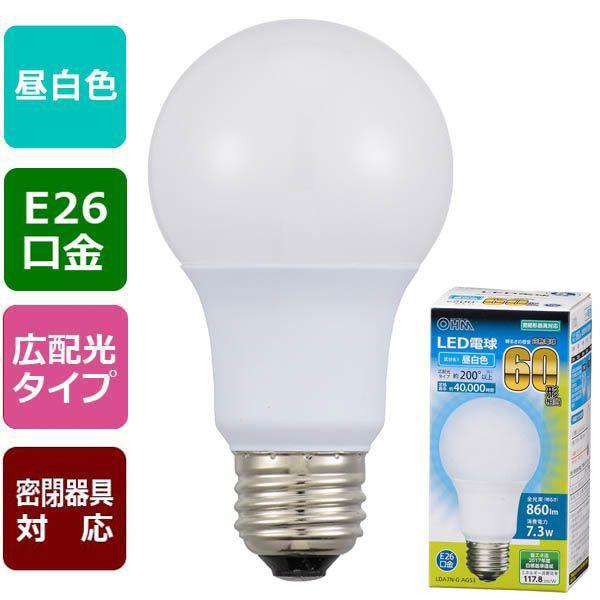 オーム電機 06-3084 LED電球(60形相当/860lm/...