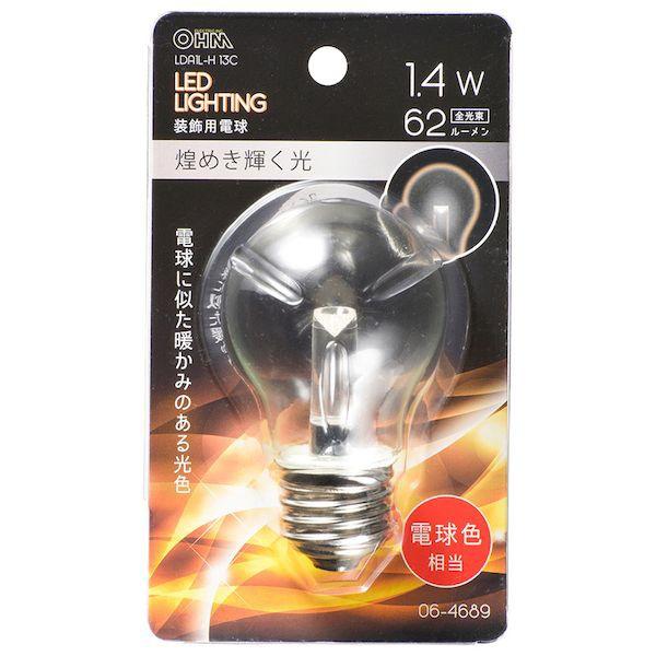 オーム電機 06-4689 LED電球 装飾用/1.4W/62lm...