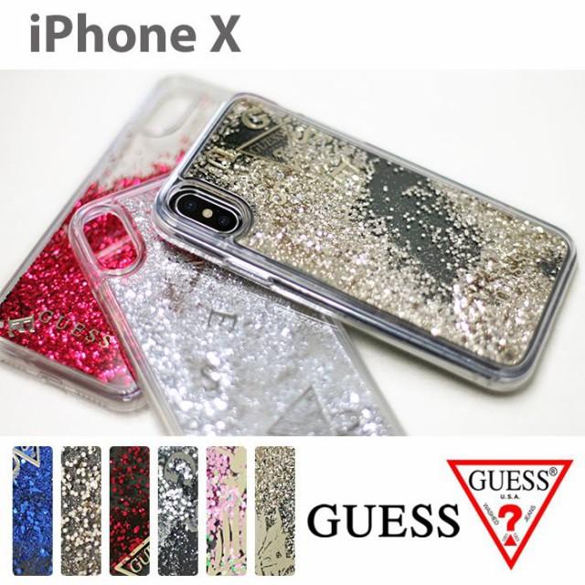 iPhoneX ハード ケース GUESS ゲス 公式ライセン...