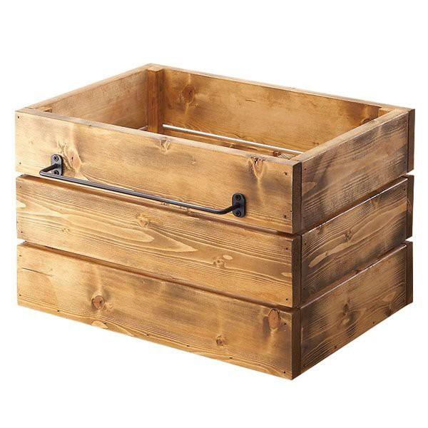 木箱 ヴィンテージ 収納 ボックス 木製 おしゃれ 北欧 ミッドセンチュリー アンティーク 木箱 Ines box L イネスボックスL