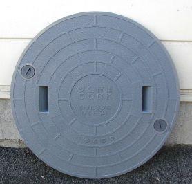 450 浄化槽マンホール(蓋) グレー