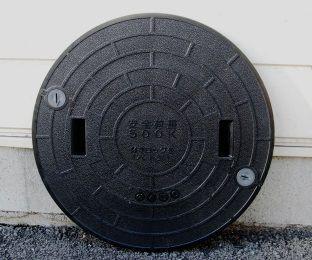 600 浄化槽マンホール(蓋) ブラック