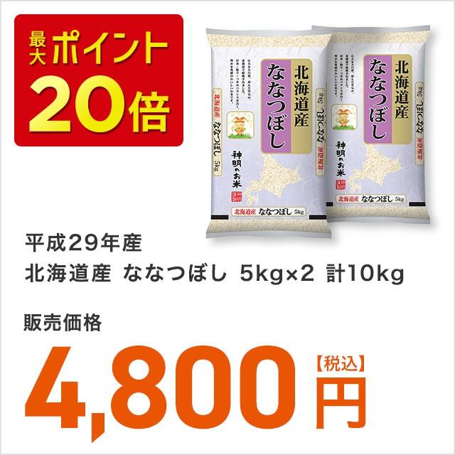 平成29年産北海道産ななつぼし5kg×2計10kg